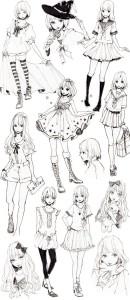 Картинки аниме для срисовки карандашом