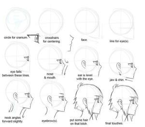 Аниме для срисовки для начинающих