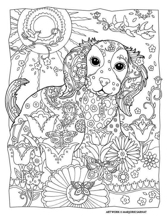раскраски антистресс собаки и щенки распечатать в хорошем