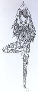 Картинки раскраски антистресс девушки