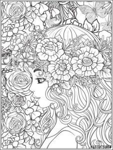 Портрет девушки раскраска