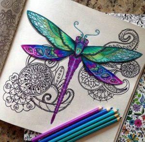 Чем раскрашивать раскраску антистресс. Цветные карандаши